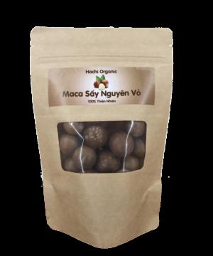 Hạt Mắc ca sấy nguyên vỏ Hachi Organic